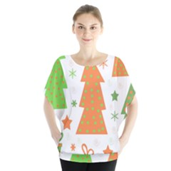 Christmas design - green and orange Blouse