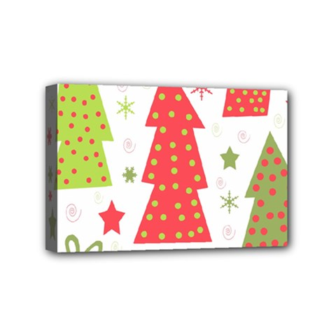 Christmas design - green and red Mini Canvas 6  x 4