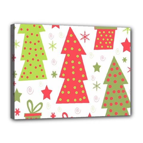 Christmas design - green and red Canvas 16  x 12