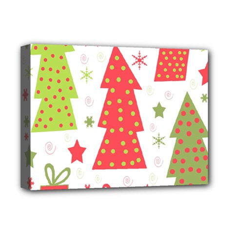 Christmas design - green and red Deluxe Canvas 16  x 12