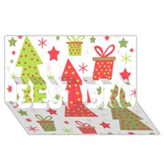 Christmas design - green and red BEST BRO 3D Greeting Card (8x4)