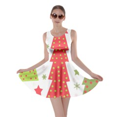 Christmas design - green and red Skater Dress