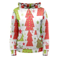 Christmas design - green and red Women s Pullover Hoodie