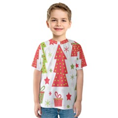 Christmas design - green and red Kid s Sport Mesh Tee