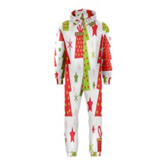 Christmas design - green and red Hooded Jumpsuit (Kids)