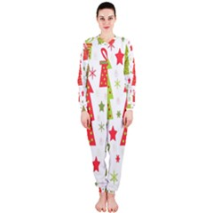 Christmas design - green and red OnePiece Jumpsuit (Ladies)