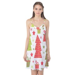Christmas design - green and red Camis Nightgown