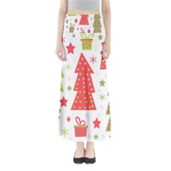 Christmas design - green and red Maxi Skirts
