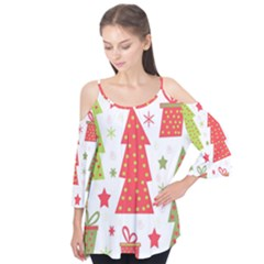 Christmas design - green and red Flutter Tees