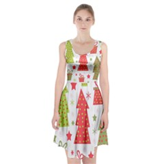 Christmas Design   Green And Red Racerback Midi Dress