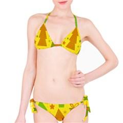 Christmas design - yellow Bikini Set