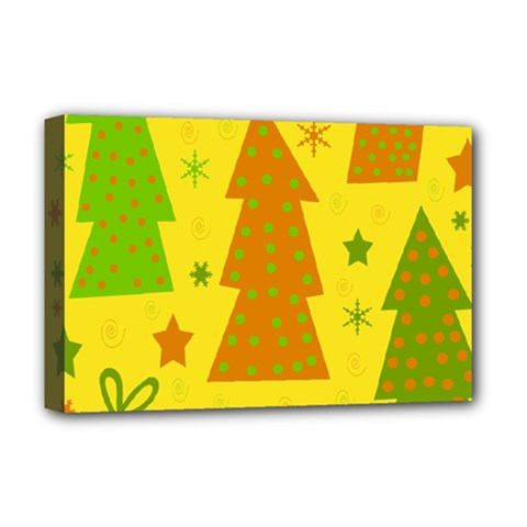 Christmas design - yellow Deluxe Canvas 18  x 12