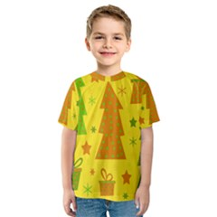 Christmas design - yellow Kid s Sport Mesh Tee