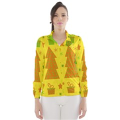 Christmas design - yellow Wind Breaker (Women)