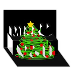 Christmas Tree Miss You 3d Greeting Card (7x5)