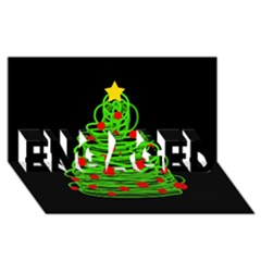 Christmas tree ENGAGED 3D Greeting Card (8x4)