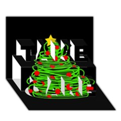 Christmas tree TAKE CARE 3D Greeting Card (7x5)