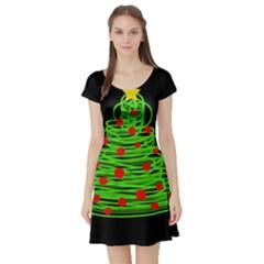 Christmas tree Short Sleeve Skater Dress