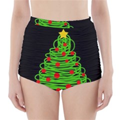 Christmas Tree High Waisted Bikini Bottoms