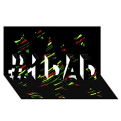 Abstract Christmas tree #1 DAD 3D Greeting Card (8x4)