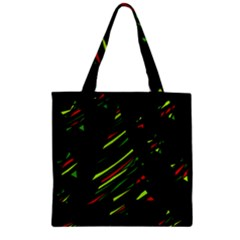 Abstract Christmas tree Zipper Grocery Tote Bag