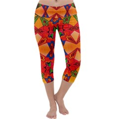 Zazar Queen Capri Yoga Leggings