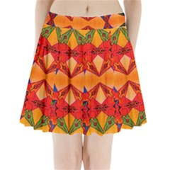 Zazar Queen Pleated Mini Skirt
