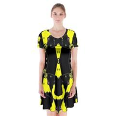 Raphael Balance Short Sleeve V-neck Flare Dress