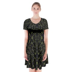 Iiiiu (2)9 Short Sleeve V-neck Flare Dress