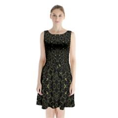 Iiiiu (2)9 Sleeveless Chiffon Waist Tie Dress