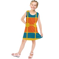 Squares and rectangles   Kid s Tunic Dress