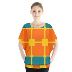 Squares and rectangles                      Batwing Chiffon Blouse