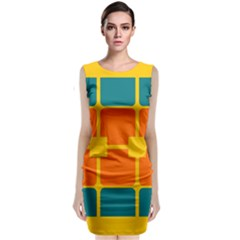 Squares And Rectangles                                                   Classic Sleeveless Midi Dress