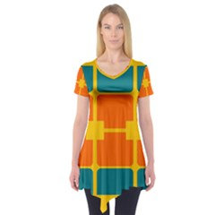 Squares and rectangles                         Short Sleeve Tunic