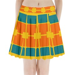 Squares and rectangles                          Pleated Mini Mesh Skirt