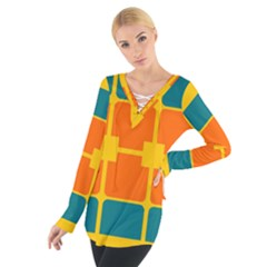 Squares And Rectangles                                                                                                 Women s Tie Up Tee