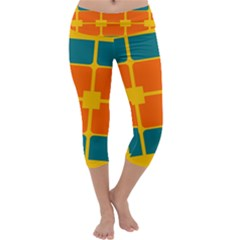 Squares And Rectangles                    Capri Yoga Leggings