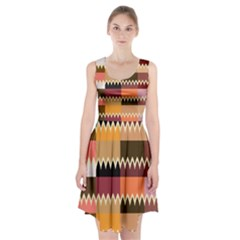 Chevrons in squares         Racerback Midi Dress