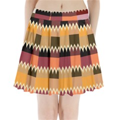 Chevrons in squares                           Pleated Mini Mesh Skirt