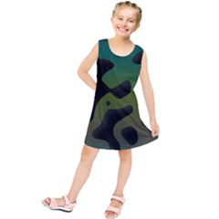 Black Spots On A Gradient Background     Kid s Tunic Dress