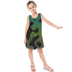 Black spots on a gradient background     Kid s Sleeveless Dress