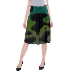 Black spots on a gradient background                                      Midi Beach Skirt