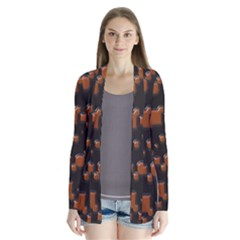 Brown Pieces               Drape Collar Cardigan