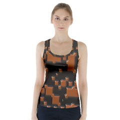 Brown pieces                      Racer Back Sports Top