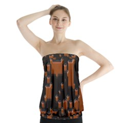 Brown Pieces                                   Strapless Top