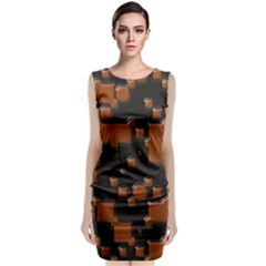 Brown Pieces                                                     Classic Sleeveless Midi Dress