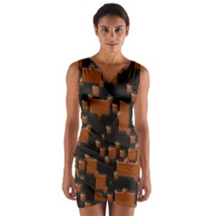 Brown Pieces                                   Wrap Front Bodycon Dress