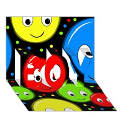 Smiley faces pattern BOY 3D Greeting Card (7x5)