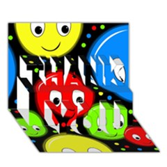Smiley faces pattern THANK YOU 3D Greeting Card (7x5)