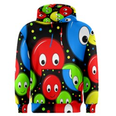 Smiley faces pattern Men s Pullover Hoodie